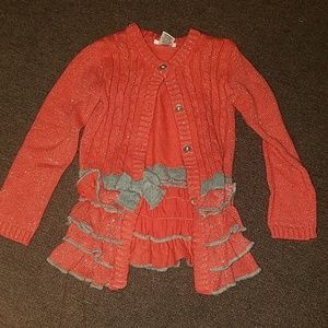 Girls button down sweater size 5